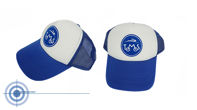 TOMOS Cap Pet blauw wit met logo Tomos